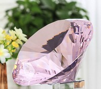 1pc pink color 100mm K9 crystal diamond for home decoration or birthdays gifts free shipping