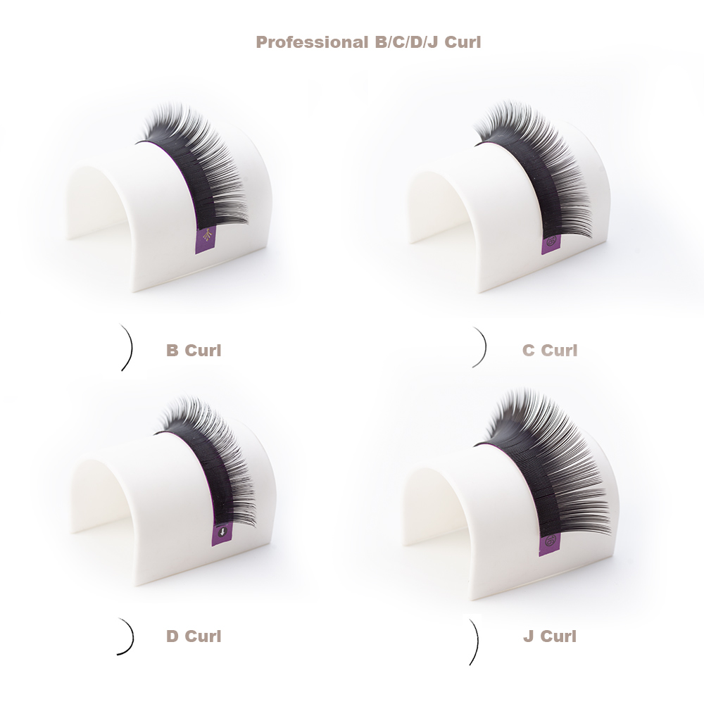 16Rows Faux Mink Individual Eyelash Extension J/B/C/D Curl Extended Lashes  Pro Soft Mink False Eyelashes Extension Cilia