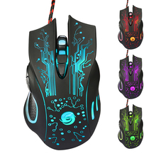 Six Lights Wired Gaming Mouse 6 Button 3200 DPI LED Optical USB Gamer Computer Mouse Mice Cable Mouse For PC  Laptop Notebook