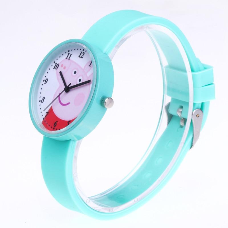 New Hot Śliczne Świnka Peppa Cartoon Kobiet Zegarek Moda Silikonowy - Zegarki damskie - Zdjęcie 4
