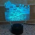 Acrílico Bulbificación LLEVÓ La Lámpara de la Decoración Del Hogar de China-La Ciudad de Phoenix-Historia-Arquitectura Luz de Noche-3D-TD86