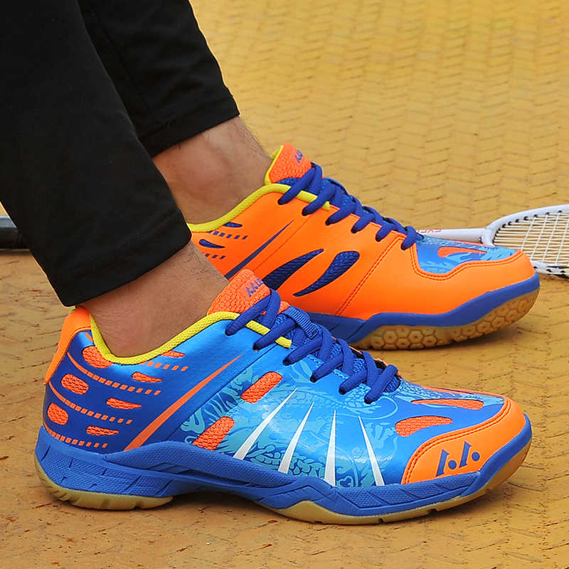 Couples Badminton Shoes Purple Blue Women Indoor Court Shoes Spring Autumn Trainers Shoes Men Anti-Slip Badminton Court Sneakers