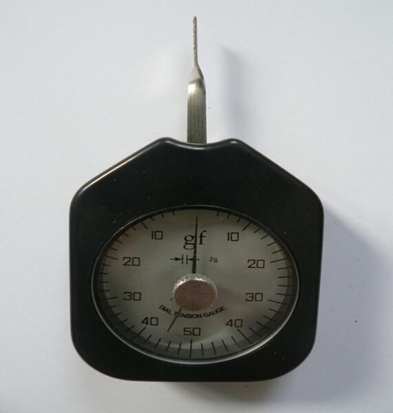 Dial Gauge Tension Gauge Gram Force Meter Dual Pointer 50 g