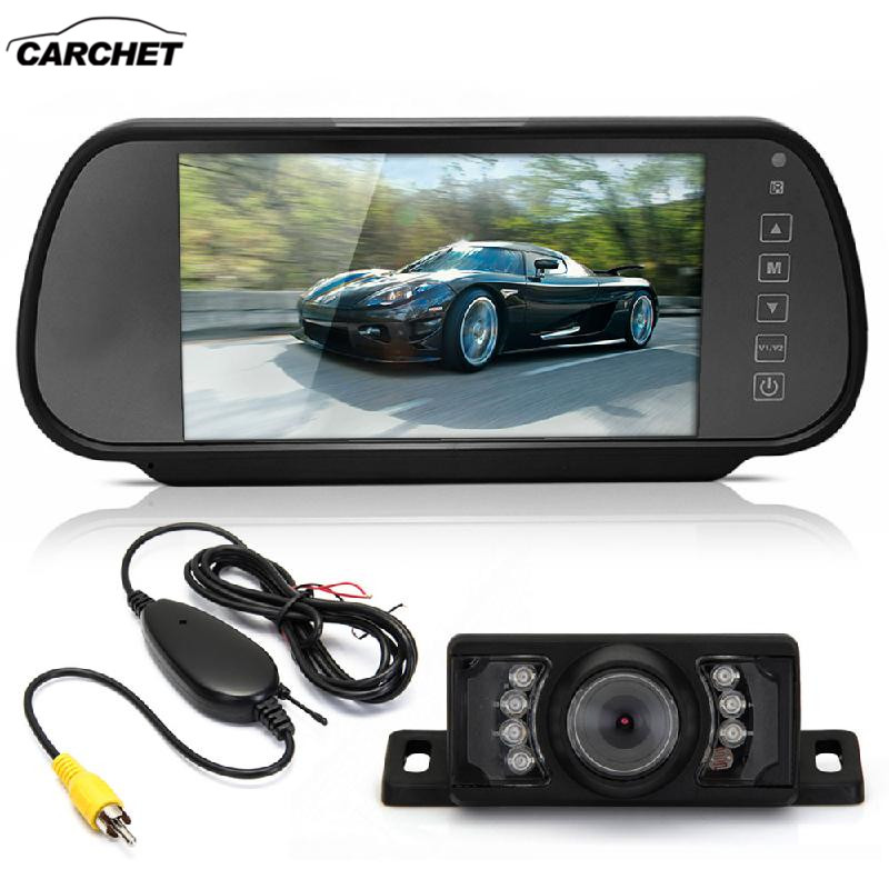 CARCHET 7'' LCD Wide Screen Car Rearview Backup Monitor Transmitter 7 LED Camera Rear View Reverse Monitor монитор wide corporation lcd pa1sa5x корея