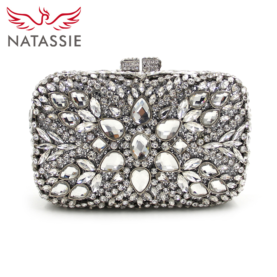 NATASSIE Big Diamond Stone Bag Luxury Women Evening Bags Designer Crystal Clutches Wedding Clutch With Chain Lady Party Purse what business should i start