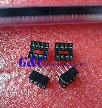 100PCS 8-Pin 8pins DIL DIP IC Socket PCB Mount Connector 100pcs ua741cn ua741 lm741 op amp compensation type dip 8