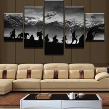 5 Шт. Снежные Горы Пейзаж Современного Дома Декор Стены холст Картина Искусство HD для Печати Живопись На Холсте Для Гостиной номер