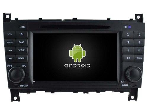 Lecteur dvd de voiture Navirider multimédia android 8.1 gps pour MERCEDES-BENZ classe C CLC W203 classe G W467 avec lumière rouge canbus