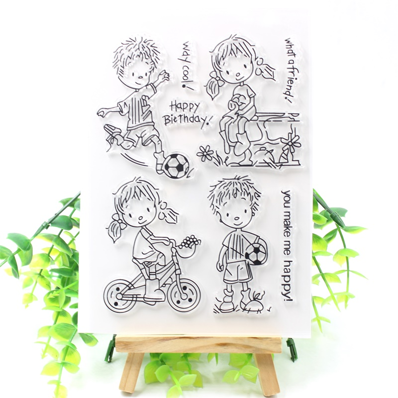 KSCRAFT What A Friend Transparent Clear Silicone Stamps for DIY Scrapbooking/Card Making/Kids Crafts Fun Decoration Supplies