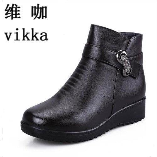 Autumn winter fashion font b Women b font snow font b Boots b font elderly mother