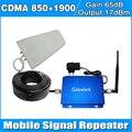 Dual Band GSM 850 mHz 1900 mHz PCS 3G Repetidor Celular KIT Amplificador de potência do telefone Antena Log Periódica Antena Chicote EUA Canada