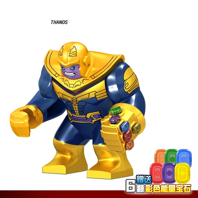 Big Figures Marvel Avengers Endgame Thanos Venom Carnage Energy Hulkbuster Gloves Batman Iron man Bricks Building