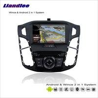 Liandlee для Ford для Focus 2012 ~ 2014 Автомобильный Радио CD dvd плеер gps Nav карта навигация Расширенный Wince и Android 2 в 1 S160 система