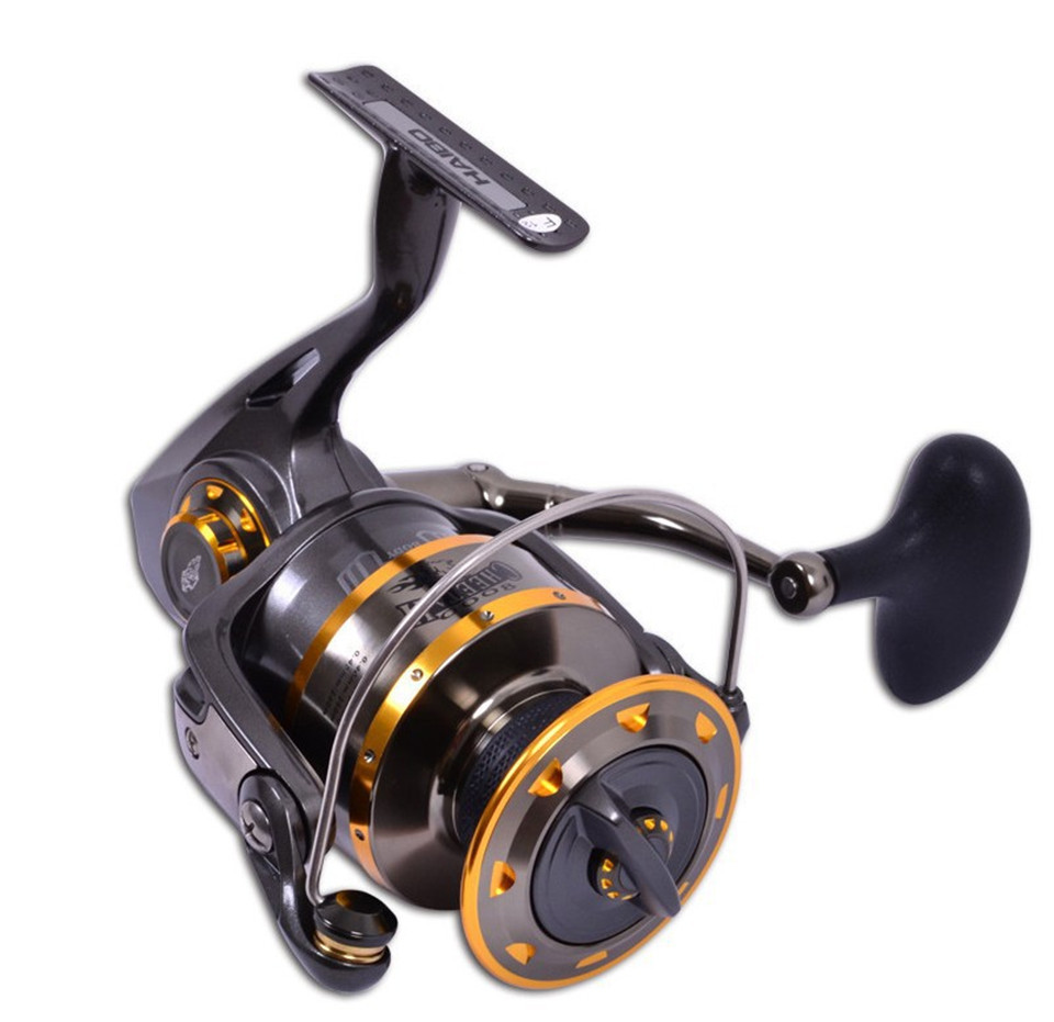 Pre loading spinning wheel fishing reel 6000 series haibo for Fishing reel bearings