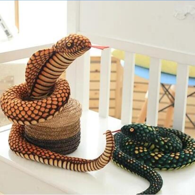 The snake plush toy big pillow doll Zodiaca Simulation snake Cobra Python pattern props Special gifts for children 100CM