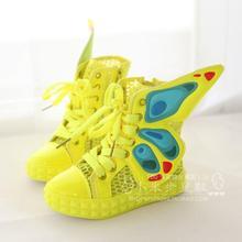 2016 Boys Children's Girls Shoes Summer Gauze Breathable Wings Medium Cut Sandals Boots Kids