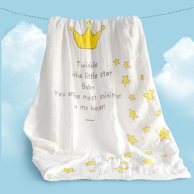 NºRuyi bebe ocho capas algodón muselina broadcrown bebé tiene mantas ...