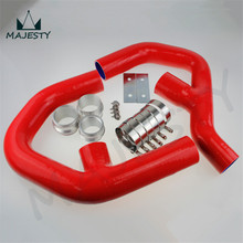 TURBO SILICONE INTERCOOLER HOSE for VW GOLF MK5 MKV GTI 2.0 FSi T 06-09 +CLAMPS RED