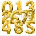 """Tamanho grande 40 """"Ouro sliver Foil Mumber Balões de Hélio para a Decoração Do Partido Por Atacado e Varejo do partido"""