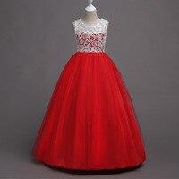 子供セレモニー服ロングページェントプリンセスウエディングウェディングドレス用フラワー女の子ミントラベンダー白と赤のイブニングドレ