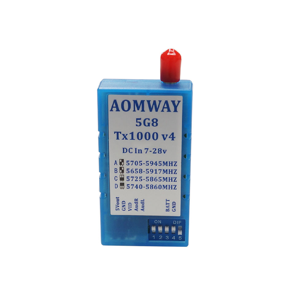 FPV Antenna Aomway 5 8G 1000mW Audio Video AV 1W Transmitter 5 8G Receiver w Antenna
