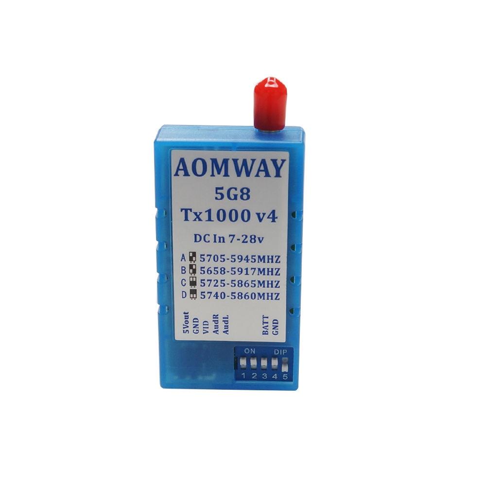FPV Antenna Aomway 5 8G 1000mW Audio Video AV 1W Transmitter 5 8G Receiver w Antenna