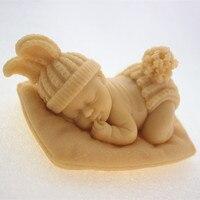 Silikonowe formy dziecko śpiące handmade soap candle mold Chocolate Kremówka ciasto formy formy Do Pieczenia narzędzia dla MAJSTERKOWICZÓW