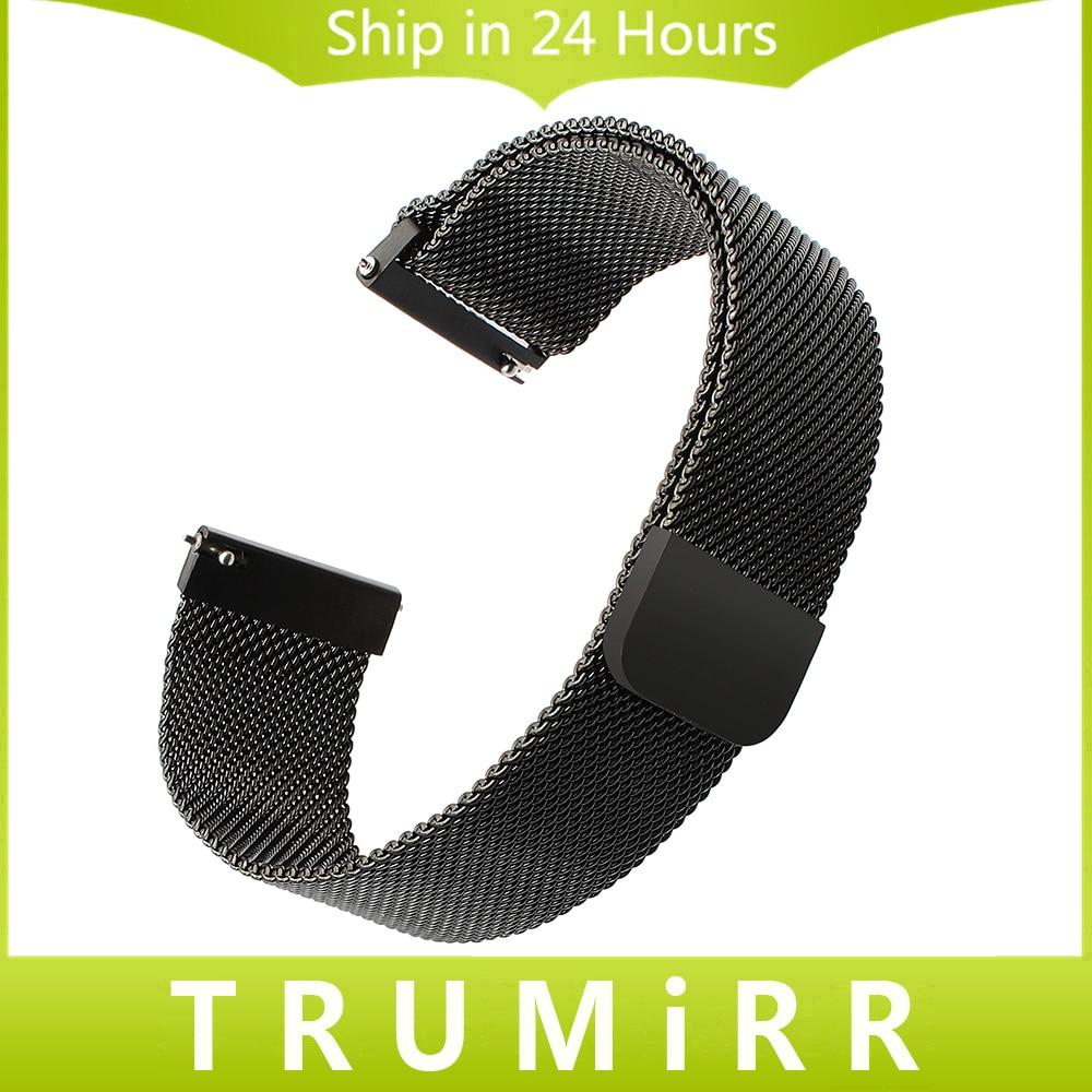 Milanese Loop Watchband Magnetic Strap for Suunto Ambit 3 Vertical / Spartan Sport HR Quick Release Stainless Steel Watch Band suunto suunto ambit 3 vertical hr черный