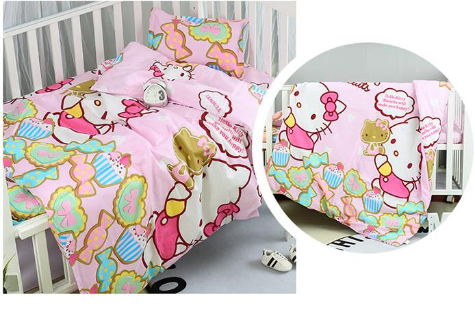New Arrive Baby Bedding Sets 100% Cotton Baby Bedclothes Cartoon Crib Infant Blanket ,Duvet/Sheet/Pillow, With Filling