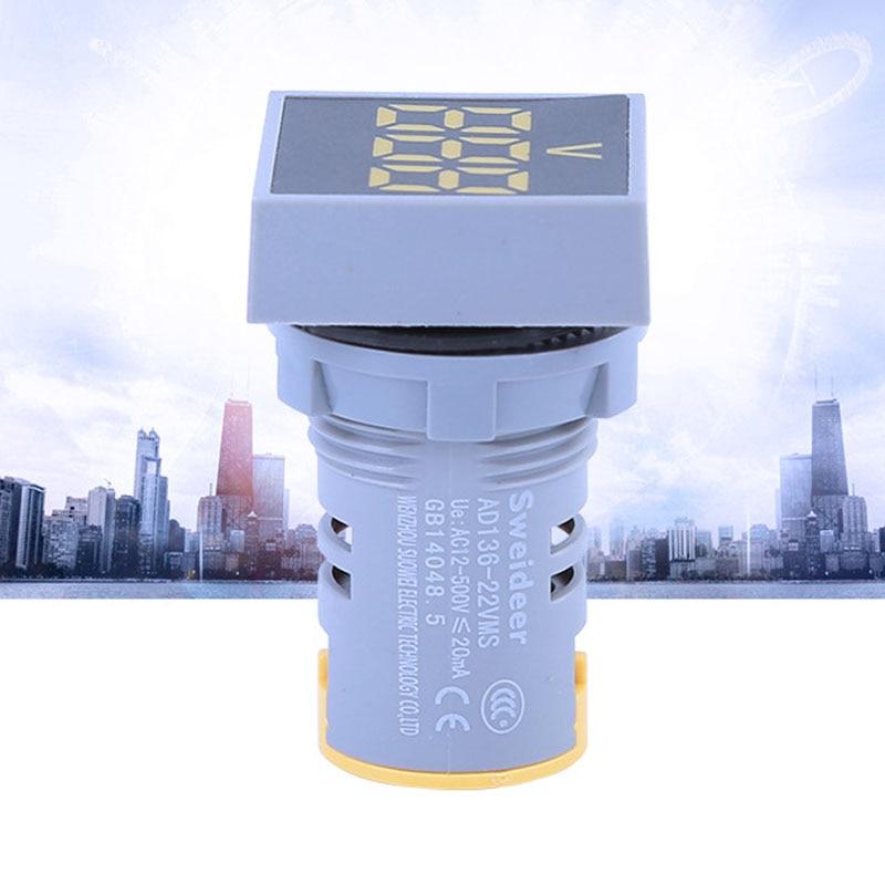1 Stück Ad136-22vms Ac 24 V-500 V Led-digitalanzeige Voltmeter Combined Indicator Light 22 Mm Signallampe Boot Lichter Navigation