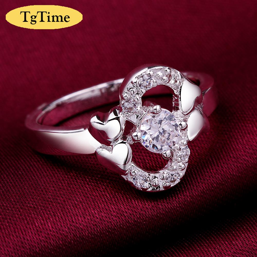 New Design Double Heart Besided Sexy Letter S Love Ring Anillos De