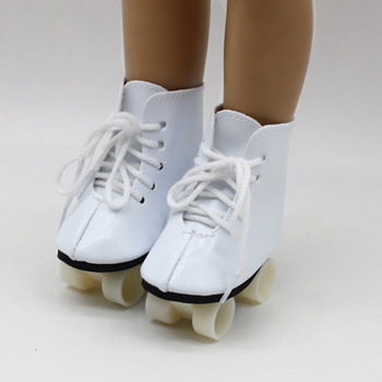 New White Color Doll Handmade Skate Shoes For 18 Inch American Your Generation Girl Baby  Accessories