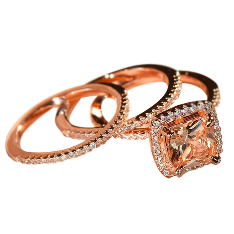 Hot Sale Fashion Ladies Ring  Rose Gold Color New Design Women Jewelry Size 6-10 Anillos