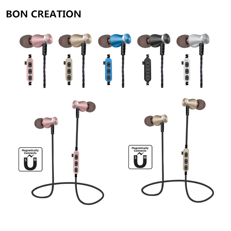 BON CREATION T5 Bluetooth Earphone Sport Running With Mic In-Ear Wireless Earphones Bass Bluetooth Headset For iPhone Xiaomi MP3 running bluetooth earphone hands free hbs 902 earphone sport wireless with mic for samsung iphone