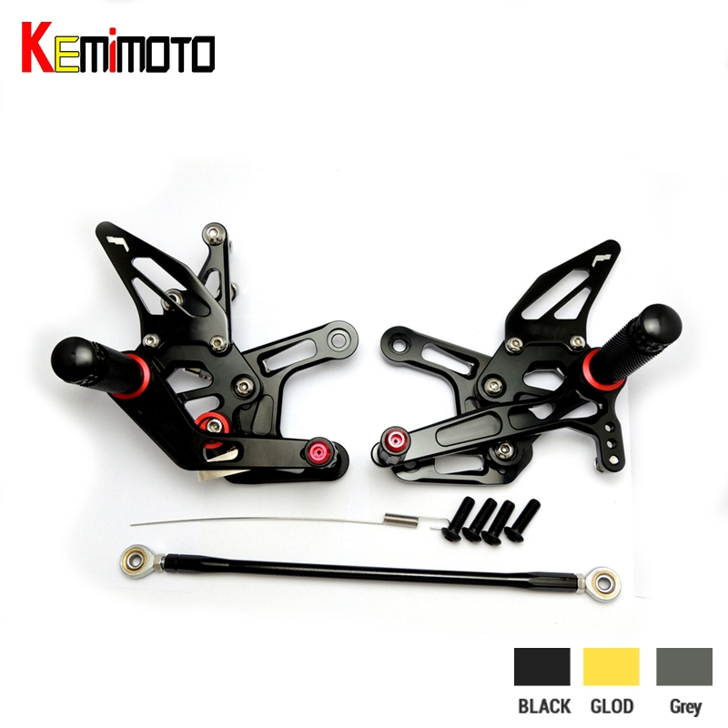 KEMiMOTO For Kawasaki ZX 10R ZX10R ZX 10R CNC Adjustable Foot Rest Motorcycle Accessories Foot Rest