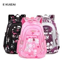 EKUIZAI Kids School Bags For Girls Children Backpacks Girls 2016 Flower Printing Cheap Shoulder Bag Primary Women School Bag