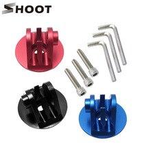 Atirar liga de alumínio bicicleta fone de ouvido tampa superior adaptador montagem para gopro hero 9 8 7 5 sjcam xiaomi yi 4k lite ir pro acessório