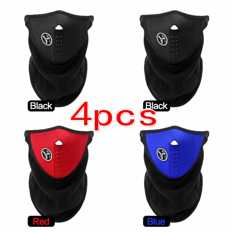 4pcs Blackpink Winter Fashion Mask Mouth Face Masks Balaclava Women Man Girls Boys Family Unisex Warmer Mask Cold Weather Wear