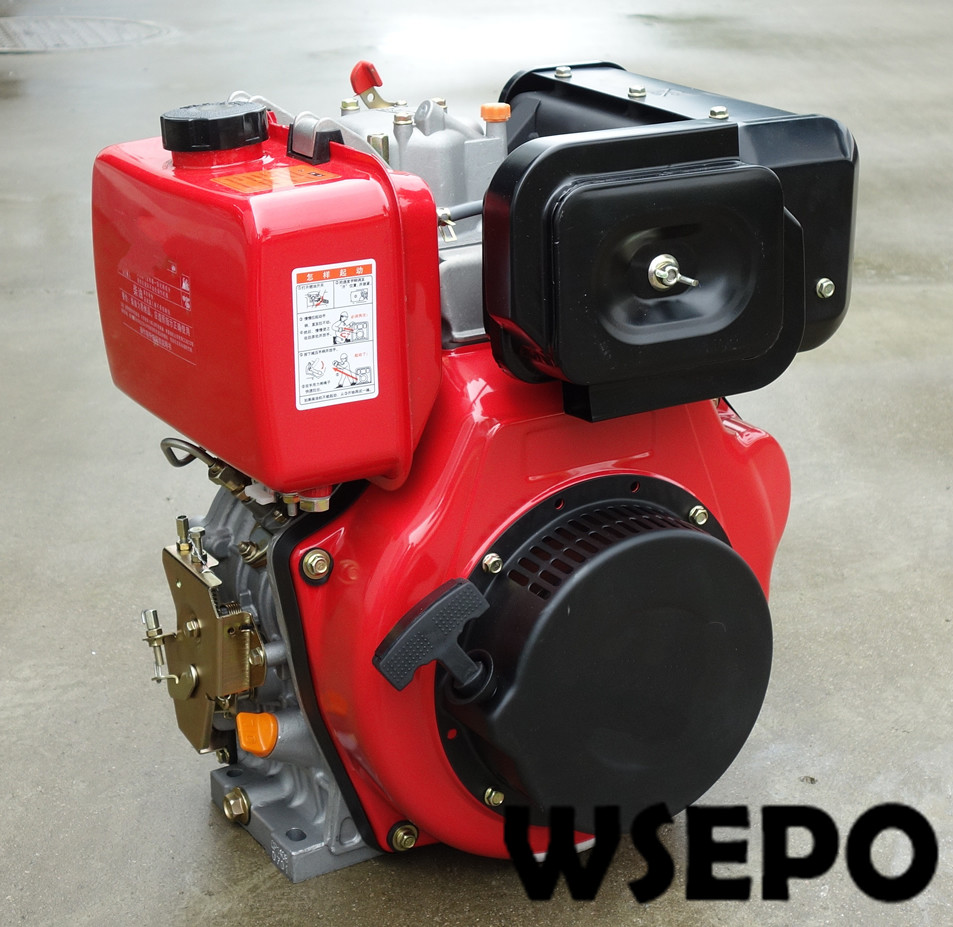 Wse 188f 10hp 456cc air cooled diesel engine with single cylinder