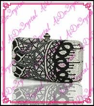 Aidocrystal 100% handgefertigte Glänzende schwarz perlen damen handtasche für party