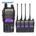 4 unids baofeng uv-82 walkie talkie con auriculares de doble banda vhf uhf radios de 2 vías cb móvil de largo alcance comunicador de radio transceptor