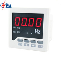 F71 80*80mm white and black LED display digital panel frequency meter AC 220V accuracy class0.5