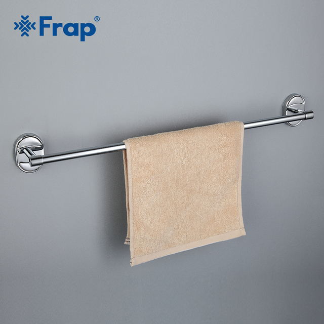 Frap Silver Simple Single Towel Bar Holder Chrome Finished Stainless Steel Pole Bathroom Accessories F1901