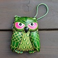 Handmade genuine leather coin purse cartoon animal owl bag coin purse wallet mini bag