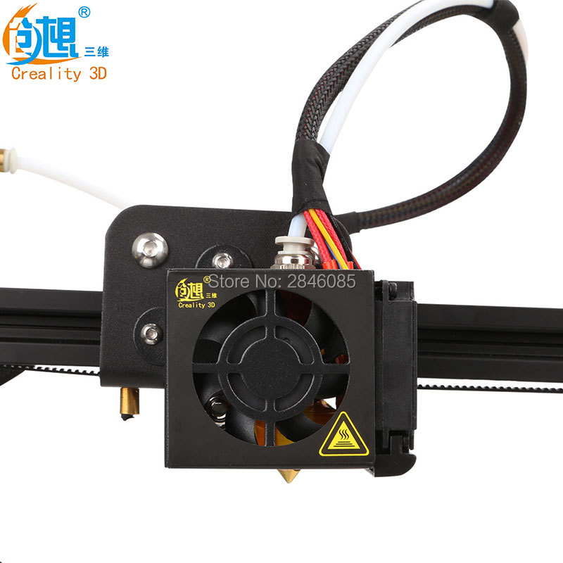 Creality 3D Full Assembled Extruder Kits With 2PCS Fans Fan Cover Air Connections Nozzle Kits for CR-10 Series 3D Printer Parts 2017 assembled jennyprinter3 z360ts dual extruder nozzle extended for ultimaker 2 um2 high precision auto leveling 3d printer