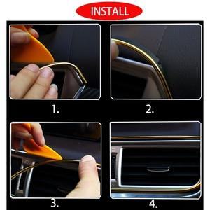 Image 5 - Car Interior Decoration Strips Moulding Trim Dashboard Door Edge Universal For BMW Lada Car  Accessories Strip Styling Sticker