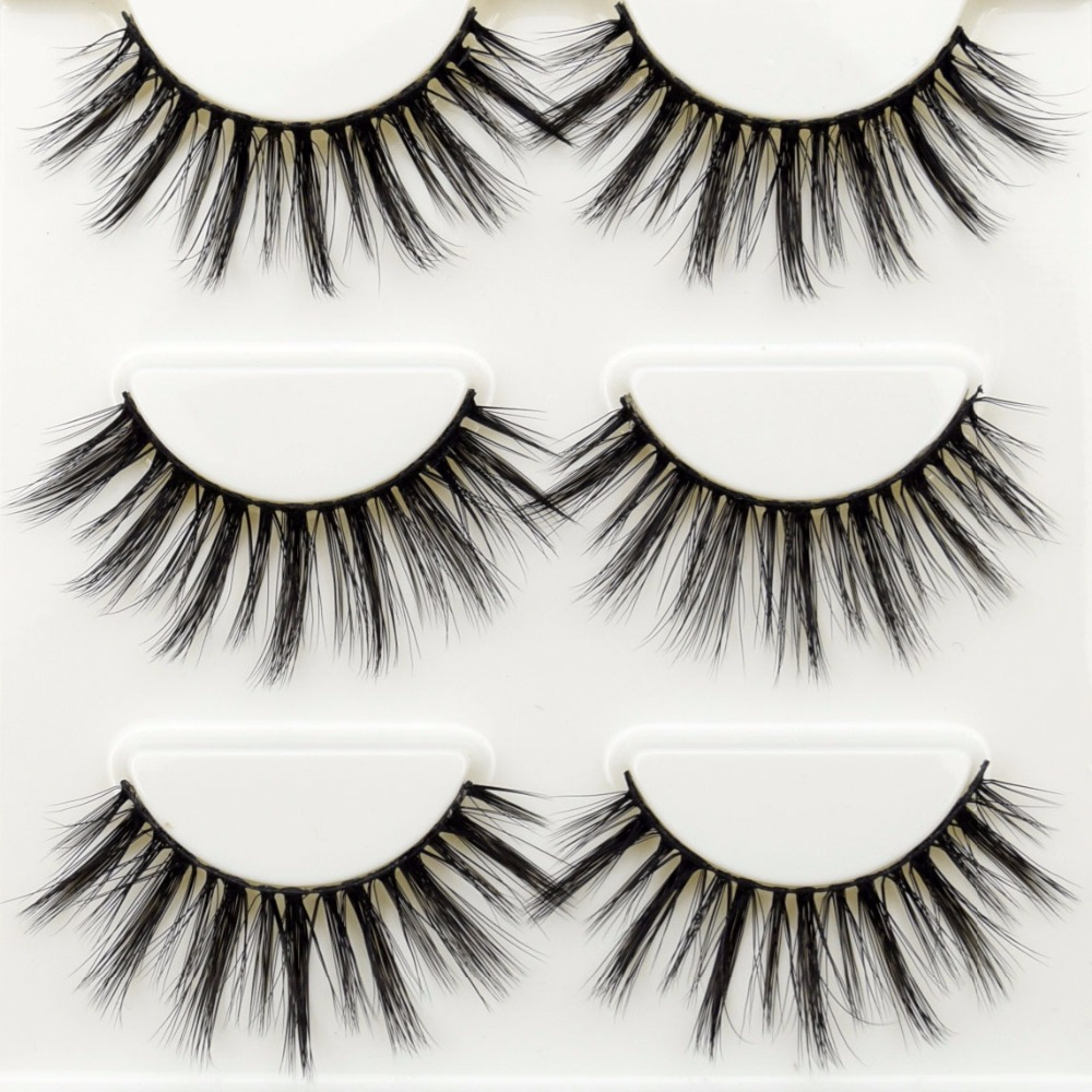 3 Pairs Visofree Mink Eyelashes Makeup Natural 3D Mink Hair Lashes Eyelash Extension Make Up False Eyelashes Maquiagem Cilios