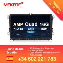 Самая низкая цена онлайн! MEKEDE android 8,1 автомобиль gps DVD плеер для Фольксваген SKODA Гольф 5 GOLF 6 поло PASSAT B5 B6 JETTA TIGUAN