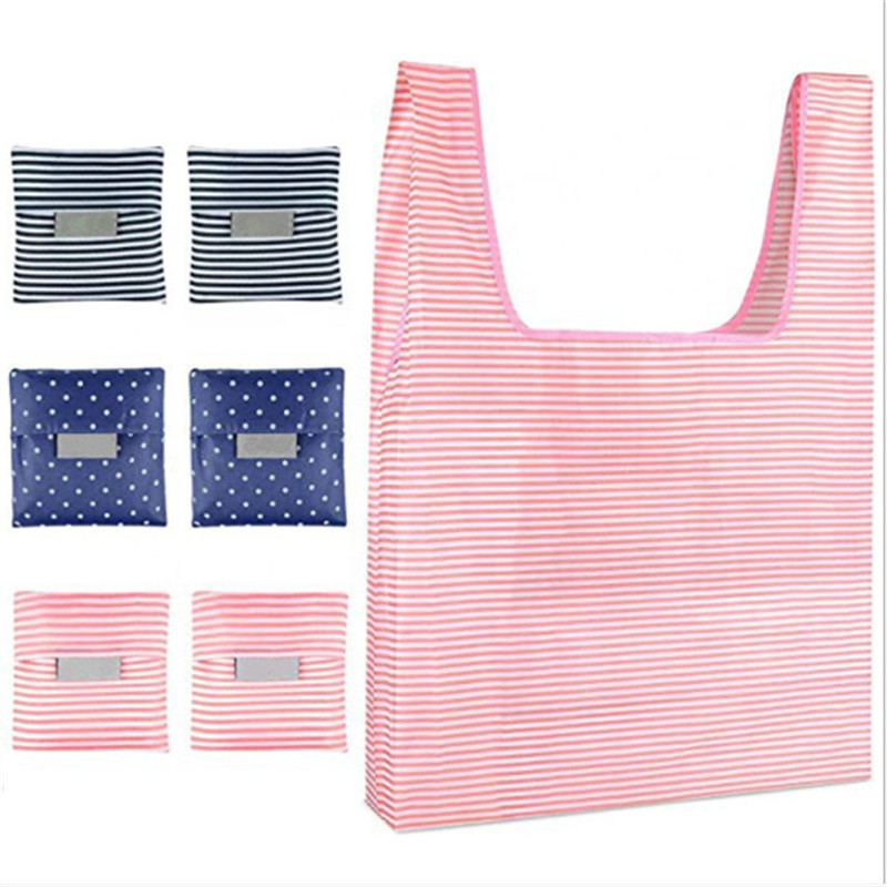 1PC Fashion Women Foldable Reusable Waterproof Nylon Eco Storage Travel Shopping Tote Grocery Bag