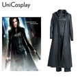 Underworld 4 Awakening Selene Cosplay Costume Woman Vampire Warrior Suits Black Trench Corset Pants Full Set